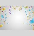 happy birthday design border of realistic vector image vector image