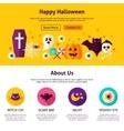 Happy Halloween Web Design Template vector image vector image