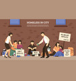 homeless people town composition vector image vector image