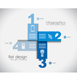 Infographic templated with paper number shapes vector image