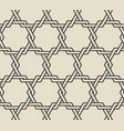 intertwining hexagons monochrome seamless pattern vector image