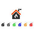 kitchen fire icon vector image vector image