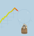 Market Bubble Burst vector image vector image