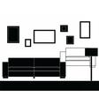 Modern sofa furniture set vector image vector image