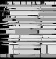 monochrome glitch art background vector image vector image