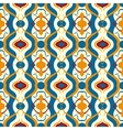 Multicolor pattern with Arabic motif vector image vector image