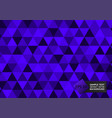 new design purple color triangles abstract vector image