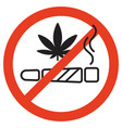 no smoking marijuana forbidden vector image