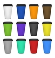 Paper coffee cup set vector image vector image