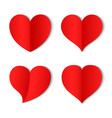 paper heart love background icon banner vector image
