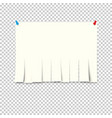 pieces torn white lined notebook paper on gray vector image vector image