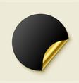 premium empty golden realistic sticker vector image vector image