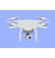 Quadrocopters unmanned aerial vehicle with 4 vector image