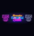 ramadan kareem sale neon design ramadan holiday vector image vector image