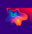 red and blue fluid wave duotone compositions vector image vector image