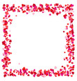 red paper hearts frame background hearts frame vector image vector image