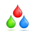 RGB Glossy Paint Drops vector image