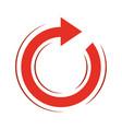 round arrow icon vector image