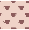 Seamless pattern of tea cups on a pink background vector image vector image