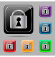 Set buttons with lock vector image vector image