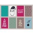 set colorful year cards vector image vector image