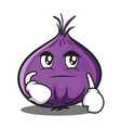 smirking red onion character cartoon vector image vector image
