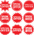 Special offer signs set special offer sticker set vector image vector image