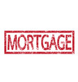 stamp text mortgage vector image vector image