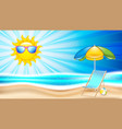 summer holiday in seashore vector image vector image