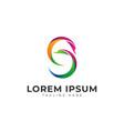 swan head letter s modern logo icon vector image vector image