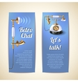 Telephone Banners Vertical vector image