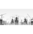 Tower Cranes vector image vector image