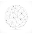 transparent polygonal sphere vector image vector image