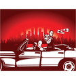 urban background with gangsters vector image vector image