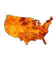 usa fire map vector image