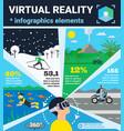 virtual reality infographics vector image vector image