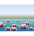 Water lily flower with reflection vector image vector image