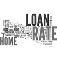 which home loan rate to choose text word cloud vector image vector image