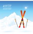 winter adventure conceptual vector image vector image
