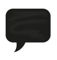 speech cloud black chalkboard vector image
