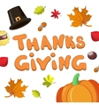 Hand Drawn Happy Thanksgiving Card Template With vector image