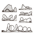 rollercoaster black silhouettes vector image