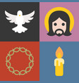 about christian and church icons set vector image vector image