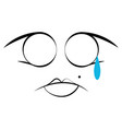 abstract crying expression vector image
