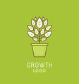 abstract growth logo design element in trendy vector image vector image