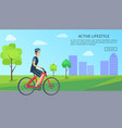 active lifestyle web page text vector image vector image