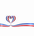 american flag heart-shaped ribbon vector image vector image