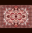arabesque carpet indian and persian rug vector image