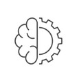 artificial cybernetic brain concept using high vector image vector image