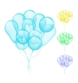 Balloons different colors vector image